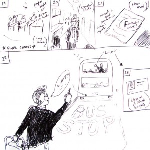 Storyboard - scenes 19 to 22